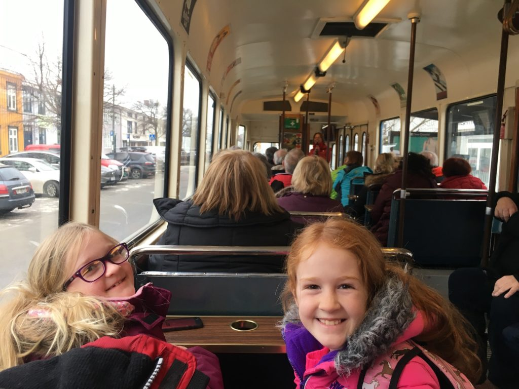 Twins on the trondheim Norway Tram